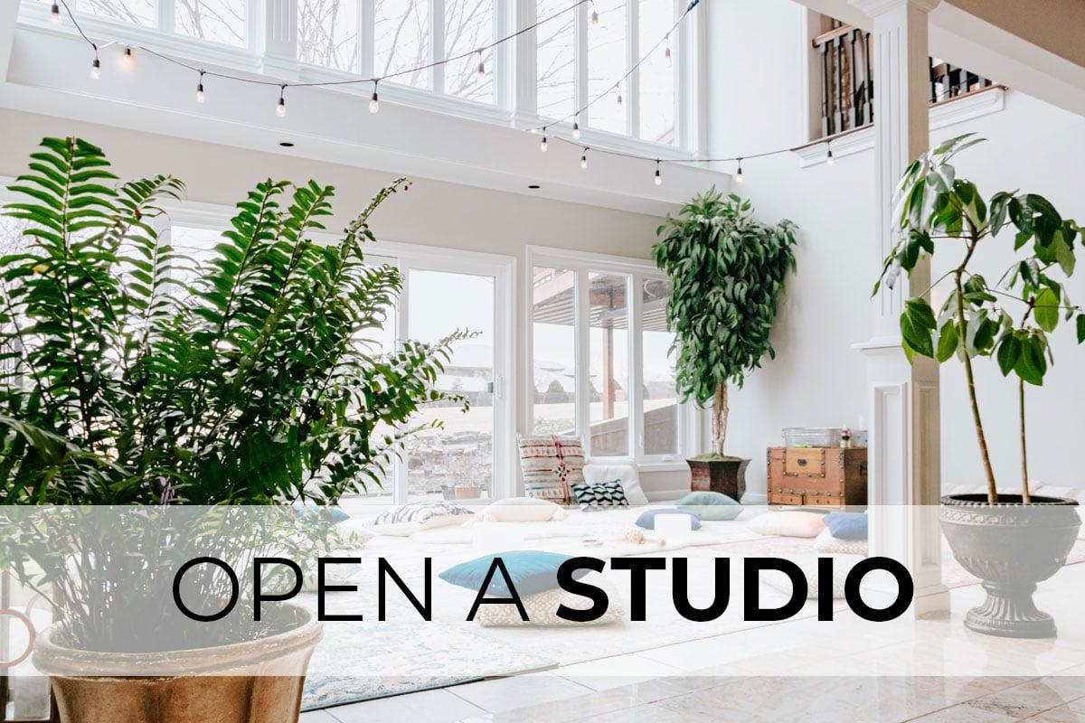 Let us help you open a Studio